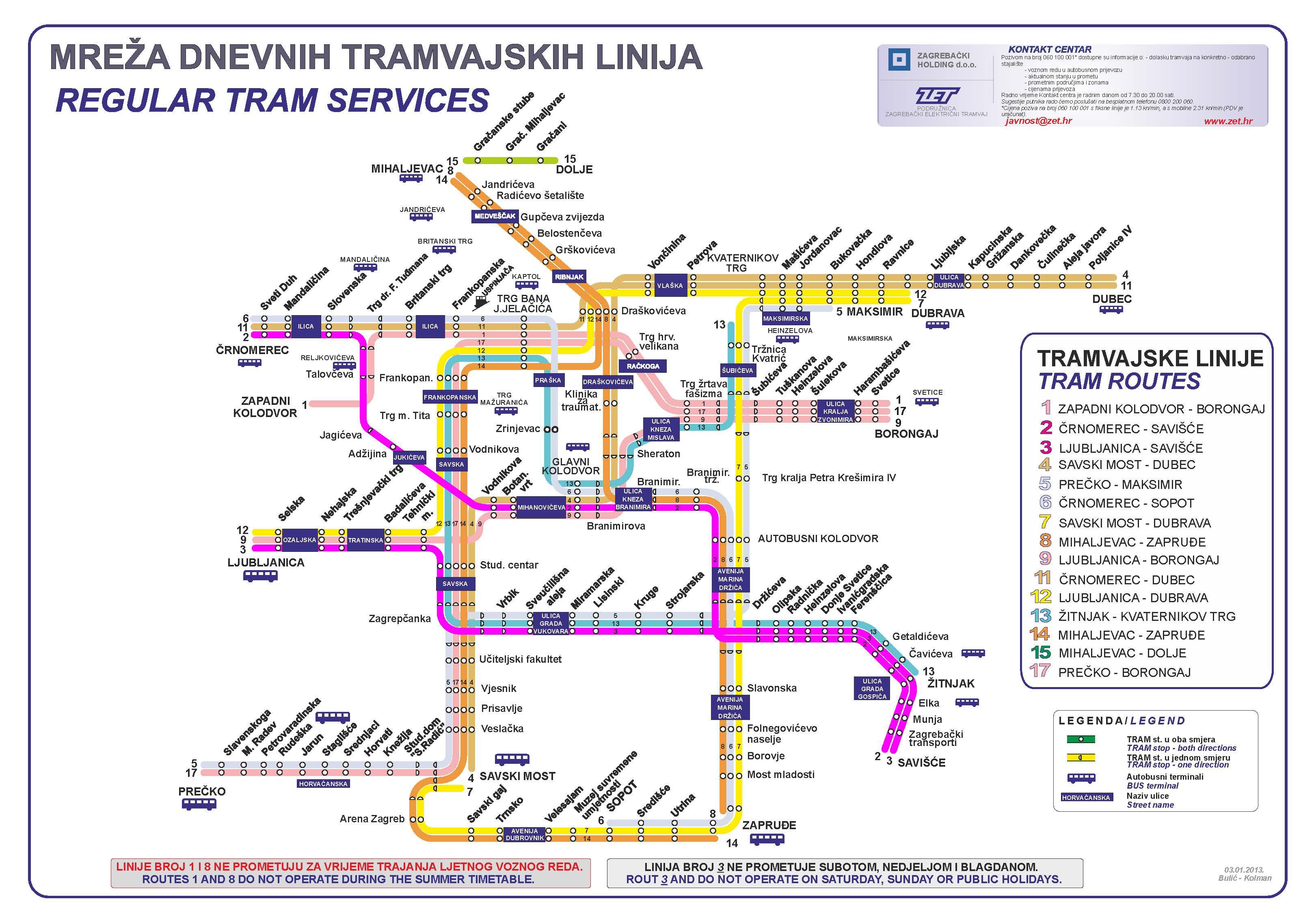 Free House Layout Zet Zagreb Tram Map Expat In Croatia
