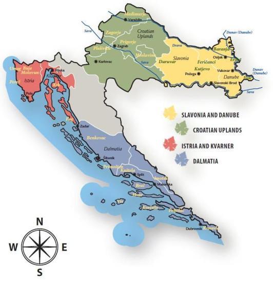 Wine regions of Croatia