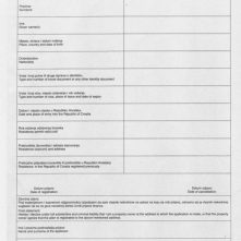 Croatia residency form