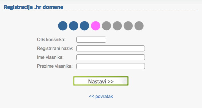 Get .hr web address in Croatia