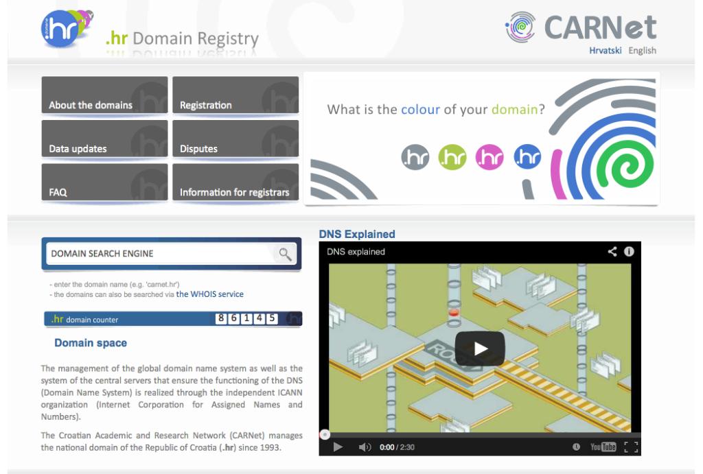 Register .hr domain in Croatia