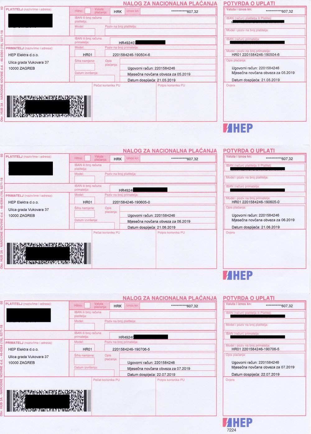 HEP invoice