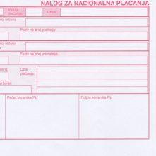 Croatian payment slip