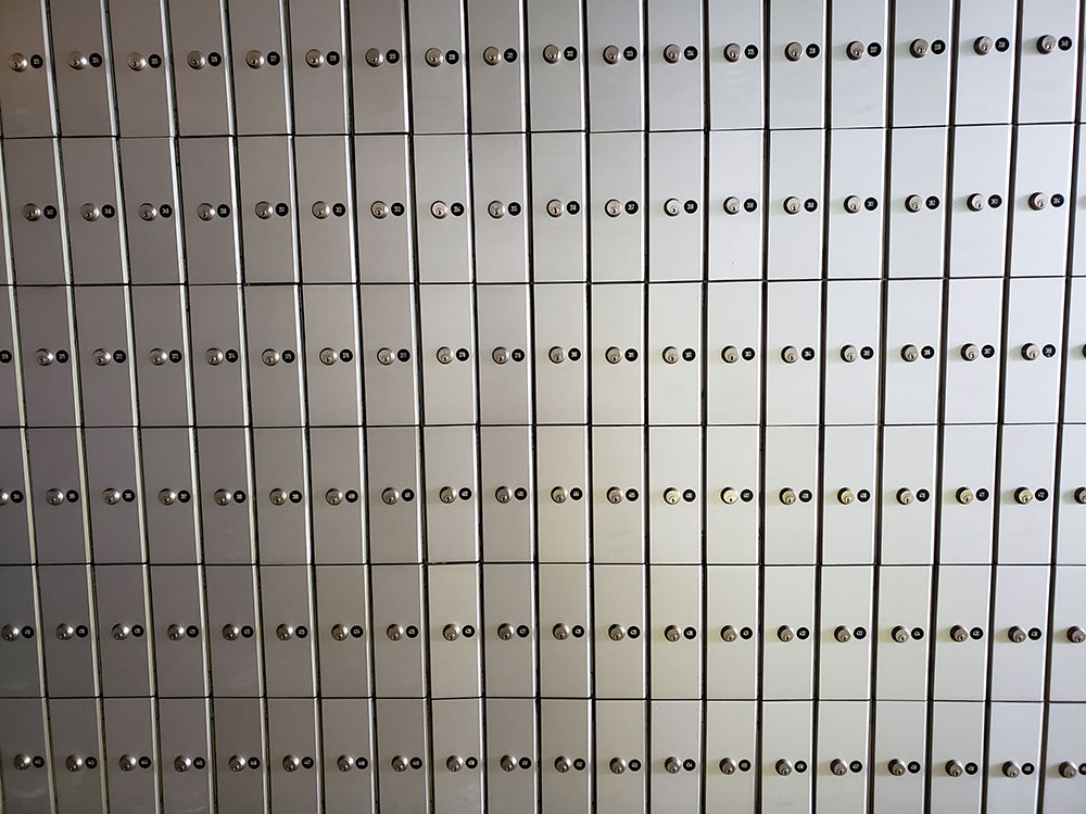 Silver post office boxes in Croatia
