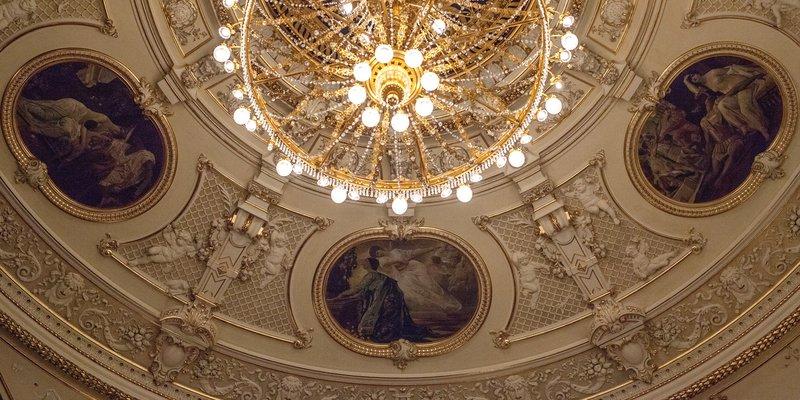 Ceiling of Zajc National Theater in Rijeka