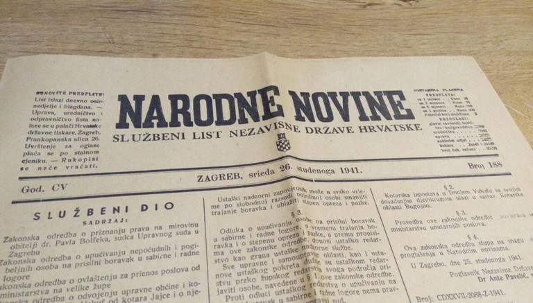 Narodne Novine newspaper from 1950
