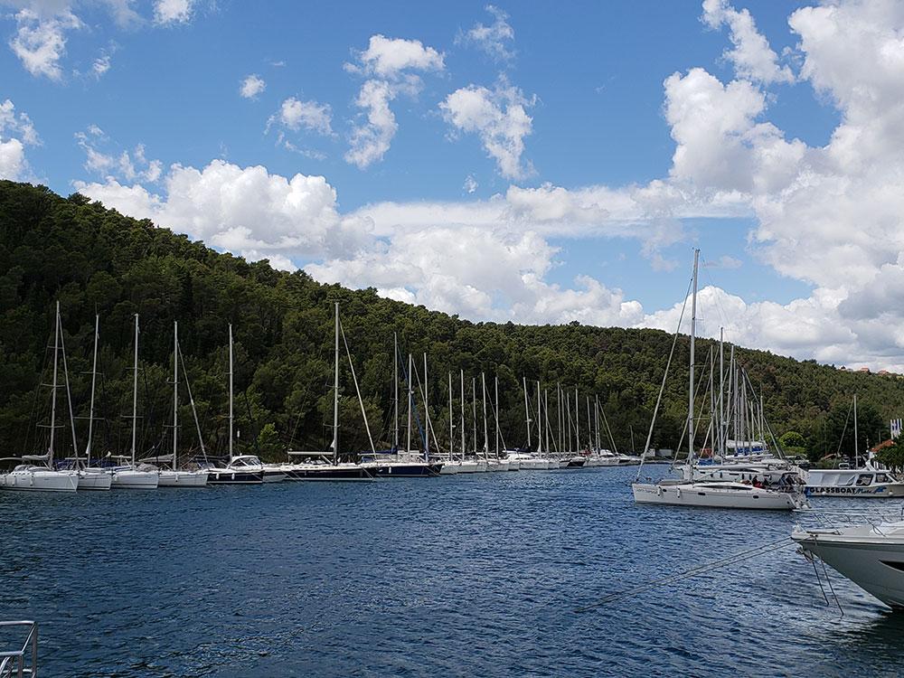 Marina in Skradin, Croatia